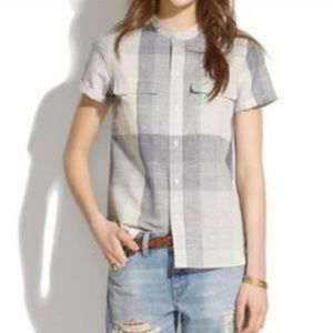 Madewell Screendoor Plaid Button-Down - Large